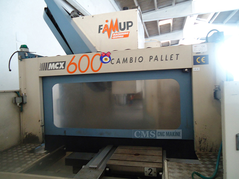 Famup MCX-600 Çift Paletli 2.El Cnc Dik İşleme