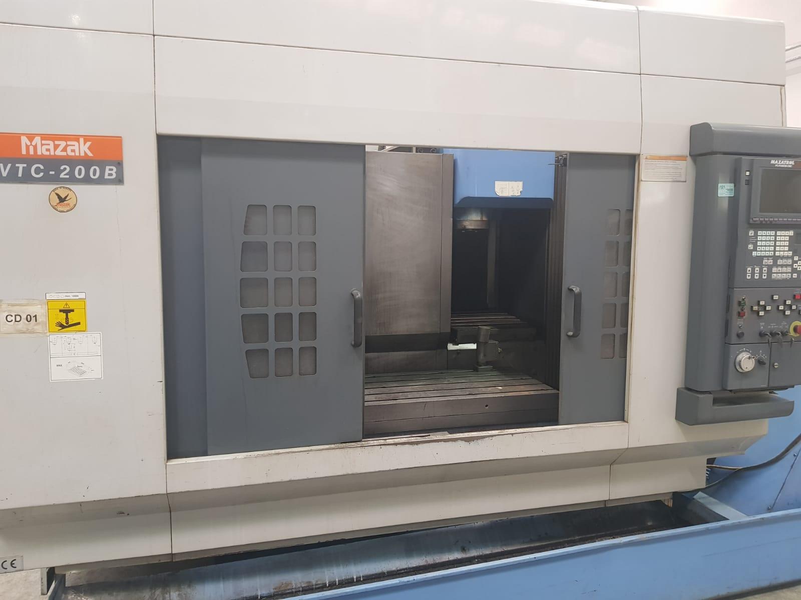 2000 Model Az Kullanılmış MAZAK VTC-200B Cnc Dik işleme Merkezi