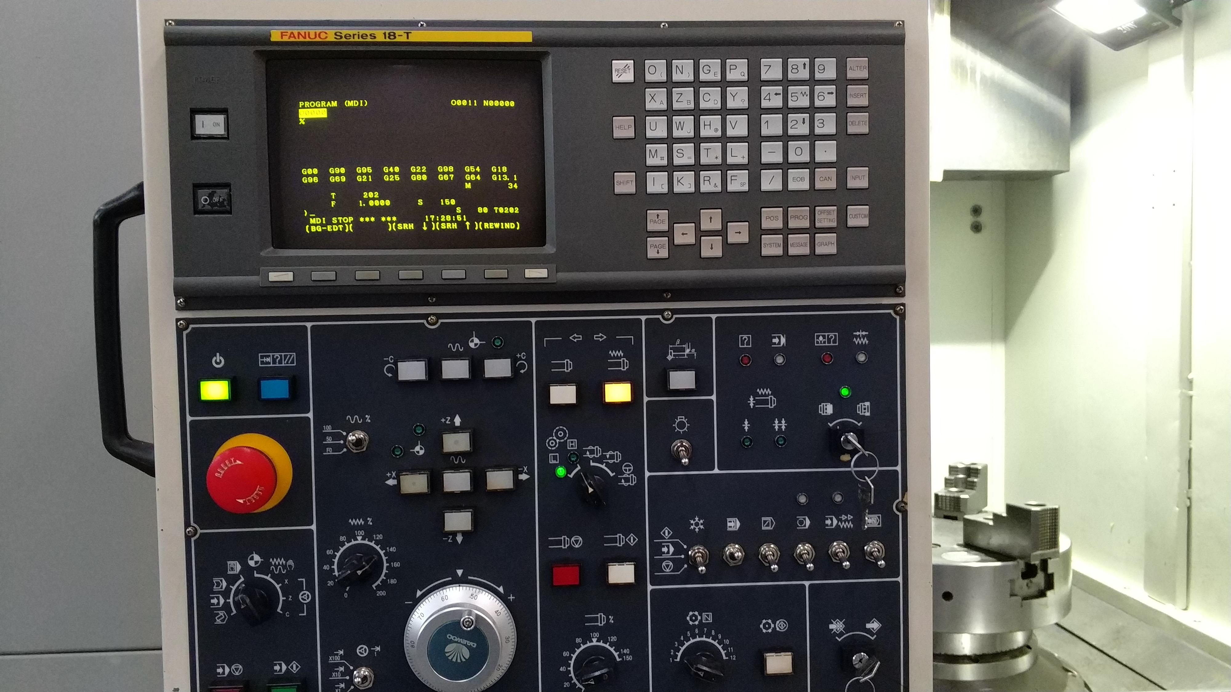 Daewoo PUMA V550M C Eksenli Cnc Dik Torna