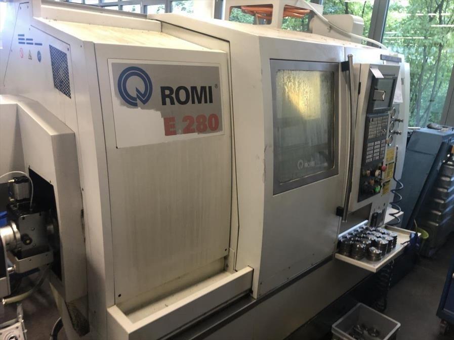 """Romi E280 2.El 10"""" C-Y Eksenli Cift Spindle Cnc Torna"""