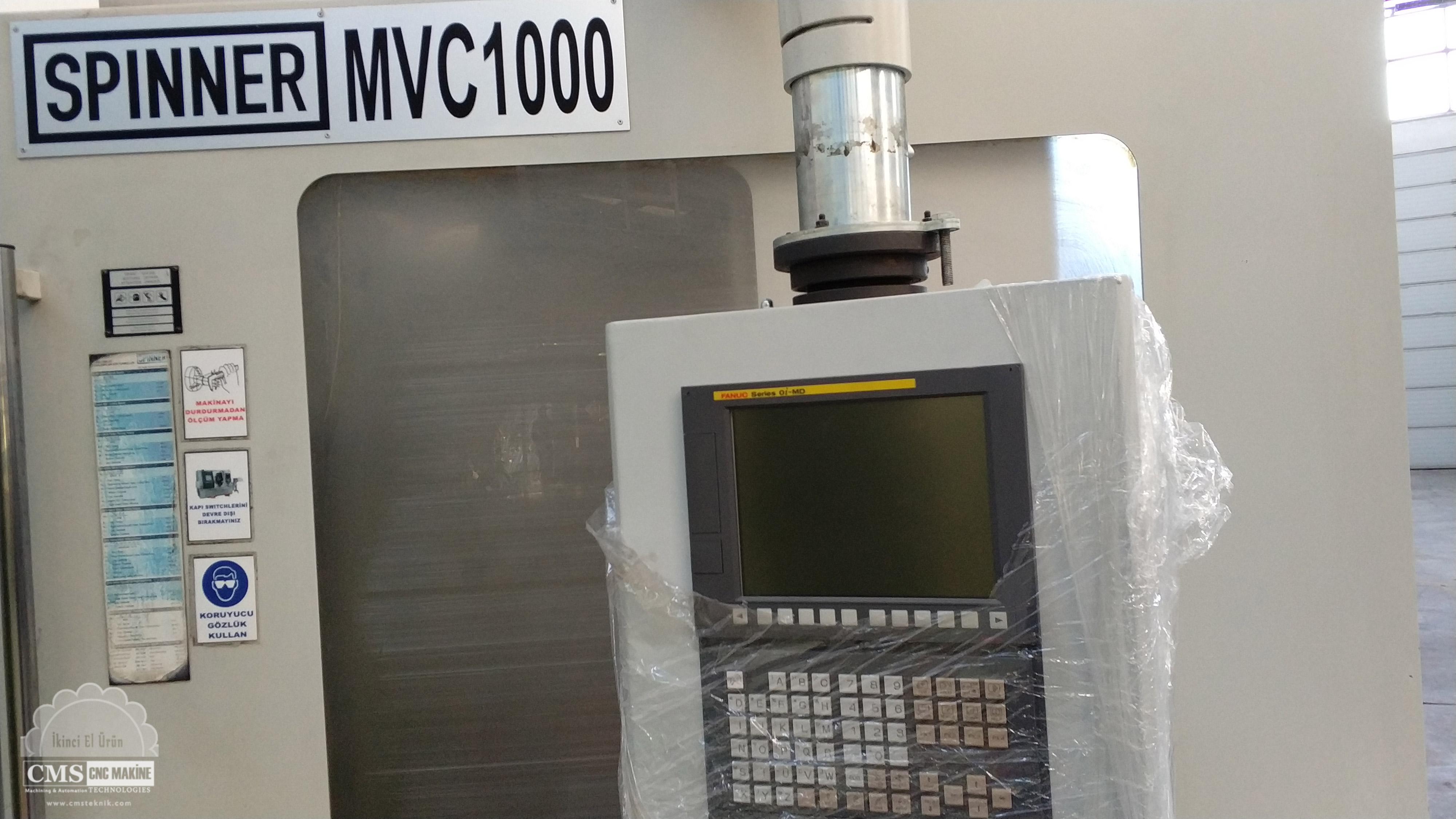Spinner MVC1000A 2.El Cnc Dik İşleme