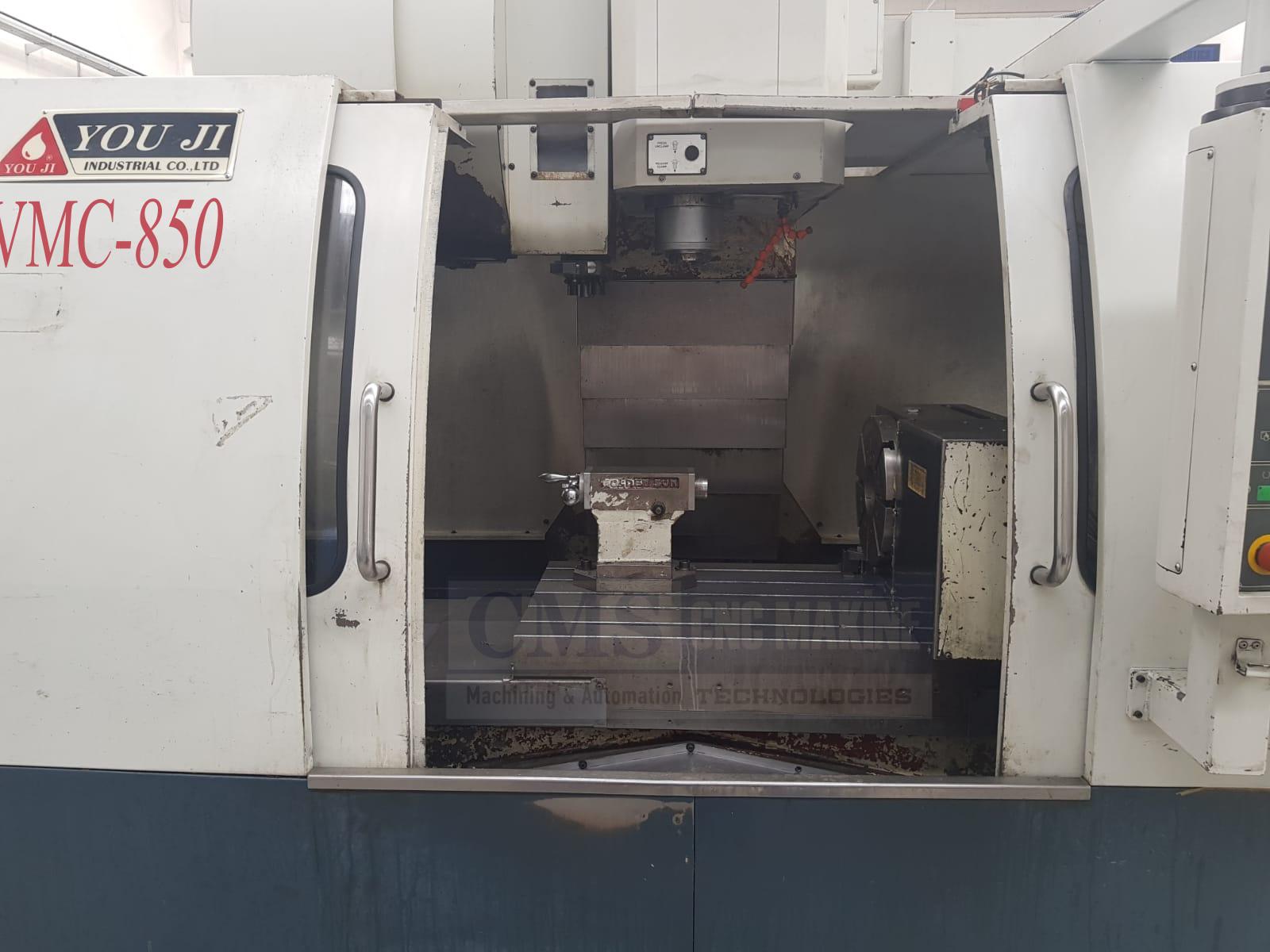 2.El YOUJI VMC 850 Divizörlü Cnc Dik İşleme Merkezi